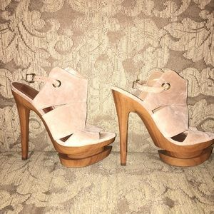 Jessica Simpson Platform Suede Sandals
